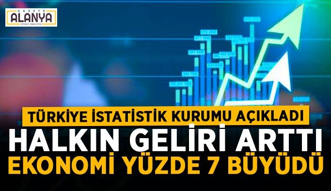 TÜİK'ten haber var! Halkın geliri arttı, ekonomi yüzde 7 büyüdü