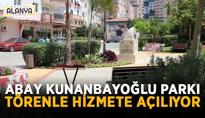 Abay Kunanbayoğlu Parkı törenle hizmete açılıyor