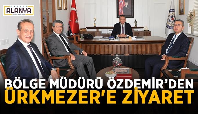 Bölge müdürü Özdemir'den Kaymakam Ürkmezer'e zı̇yaret