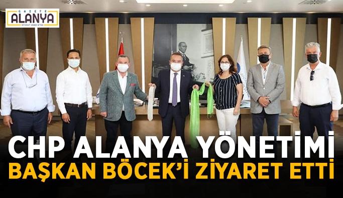 CHP Alanya yönetimi Başkan Böcek'i ziyaret etti