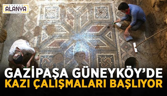 Gazipaşa Güneyköy'de kazı çalışmaları başlıyor