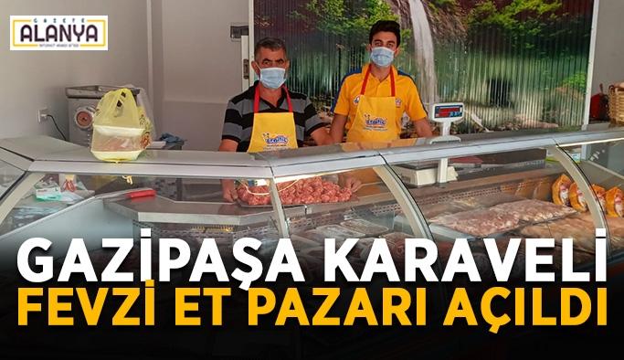 Gazipaşa Karaveli Fevzi et pazarı açıldı