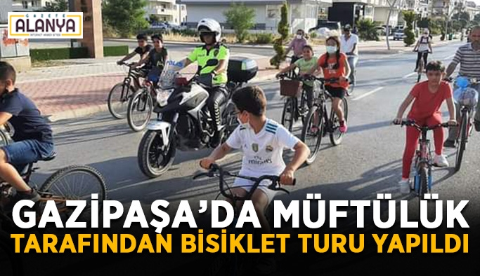 Gazipaşa'da müftülük tarafından bisiklet turu yapıldı