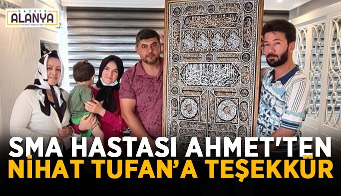 SMA hastası Ahmet'ten Nihat Tufan'a teşekkür
