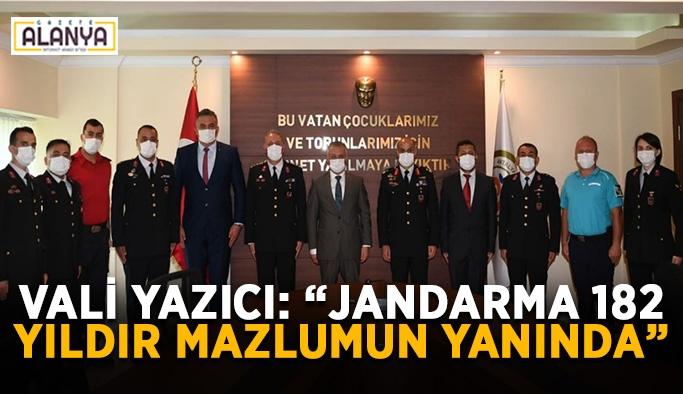 """Vali Yazıcı: """"Jandarma 182 yıldır mazlumun yanında"""""""