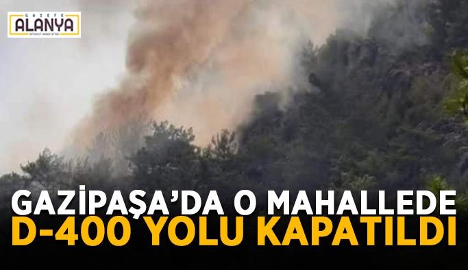 Aydıncık'ta çıkan yangın yolları kapattırdı