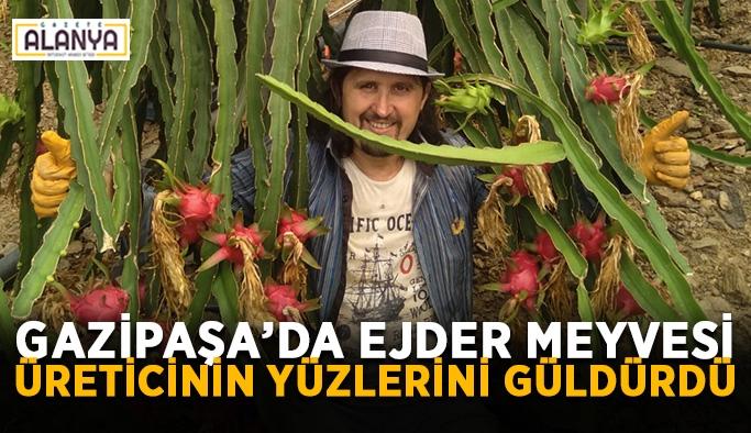 Gazipaşa'da ejder meyvesi üreticinin yüzlerini güldürdü
