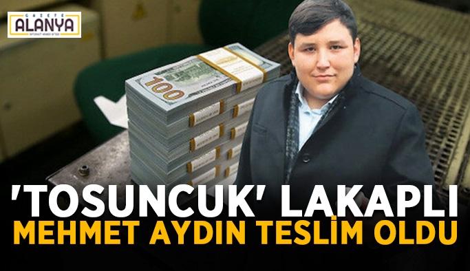'Tosuncuk' lakaplı Mehmet Aydın teslim oldu