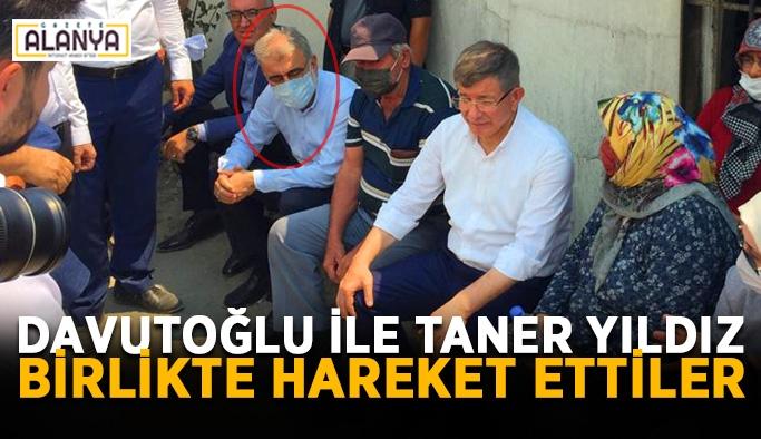 Eski Başbakan Davutoğlu ile eski Bakan Taner Yıldız bir araya geldi