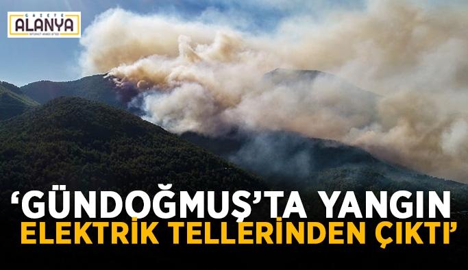"""""""Gündoğmuş'ta yangın elektrik tellerinden çıktı"""""""