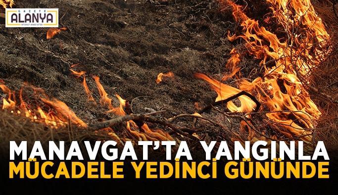Manavgat'ta yangınla mücadele yedinci gününde