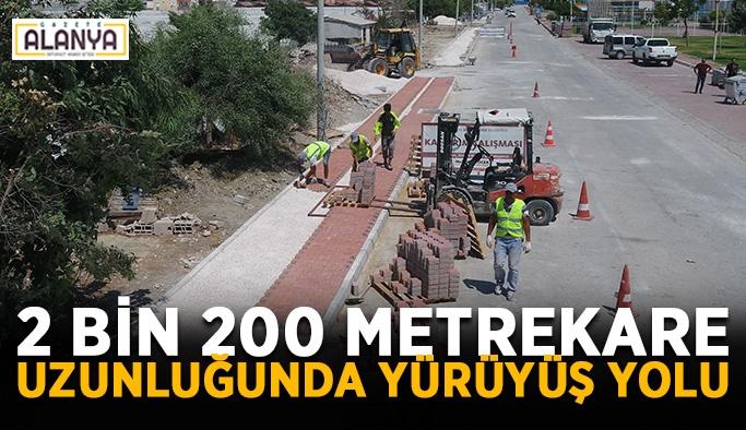 2 bin 200 metrekare uzunluğunda yürüyüş yolu