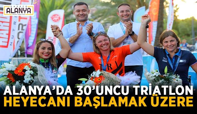 Alanya'da 30'uncu Triatlon heyecanı başlamak üzere