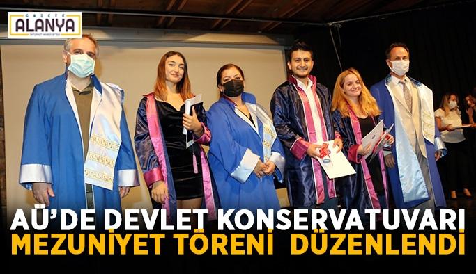 AÜ'de Devlet Konservatuvarı mezuniyet töreni düzenlendi