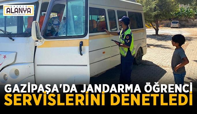 Gazipaşa'da jandarma öğrenci servislerini denetledi
