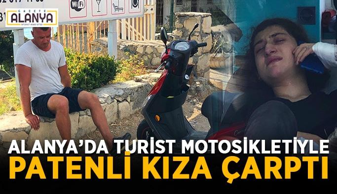 Rus turist motosikletiyle patenli kıza çarptı