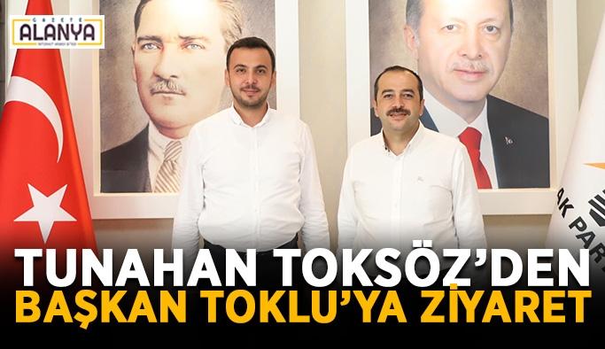Tunahan Toksöz'den Başkan Toklu'ya ziyaret