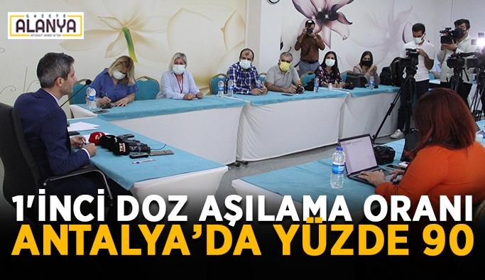 1'inci doz aşılama oranı Antalya'da yüzde 90