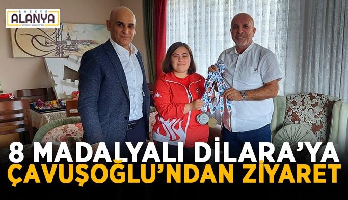8 madalyalı Dilara'ya başkan Çavuşoğlu'ndan ziyaret