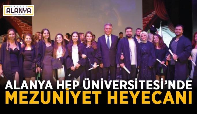 Alanya HEP Üniversitesi'nde mezuniyet heyecanı