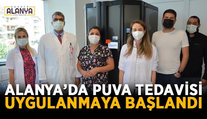 Alanya'da Puva tedavisi uygulanmaya başlandı