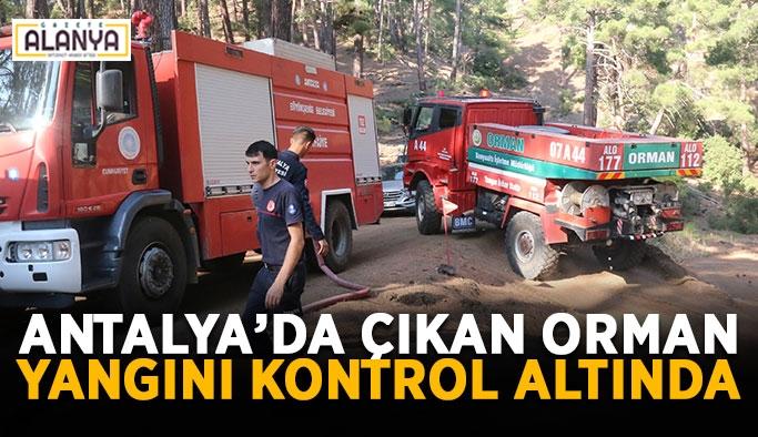 Antalya'da çıkan orman yangını kontrol altında