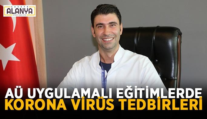 AÜ uygulamalı eğitimlerde korona virüs tedbirleri