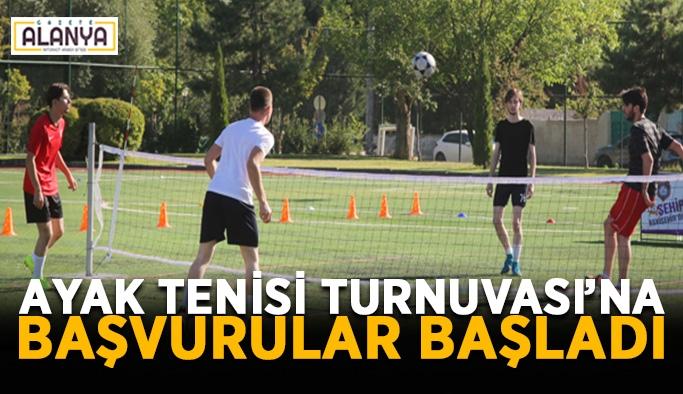 Ayak Tenisi Turnuvası'na başvurular başladı