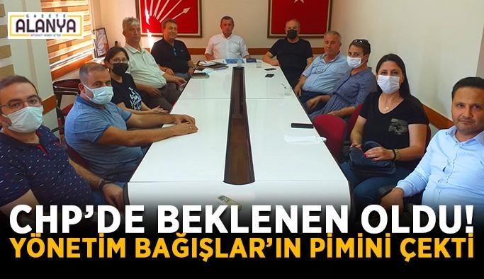 CHP yönetimi Bağışlar'ın pimini çekti