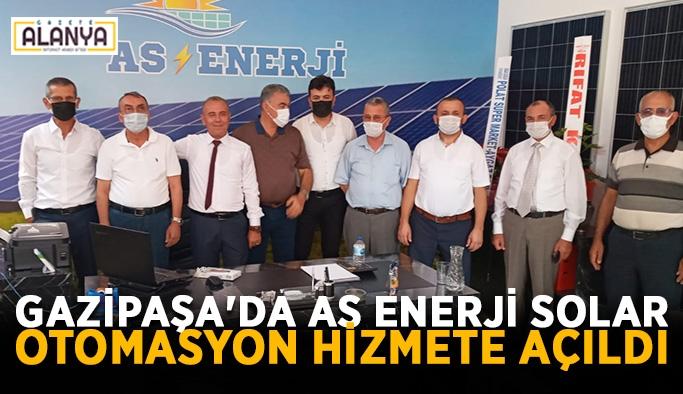 Gazipaşa'da As Enerji Solar Otomasyon hizmete açıldı