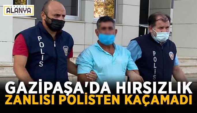 Gazipaşa'da hırsızlık zanlısı polisten kaçamadı