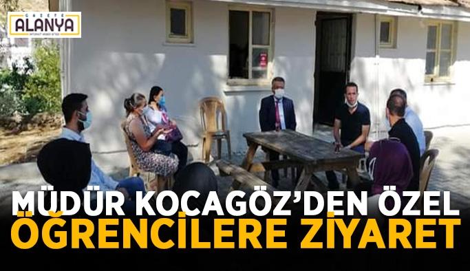 Gazipaşa'da müdür Kocagöz'den özel öğrencilere ziyaret