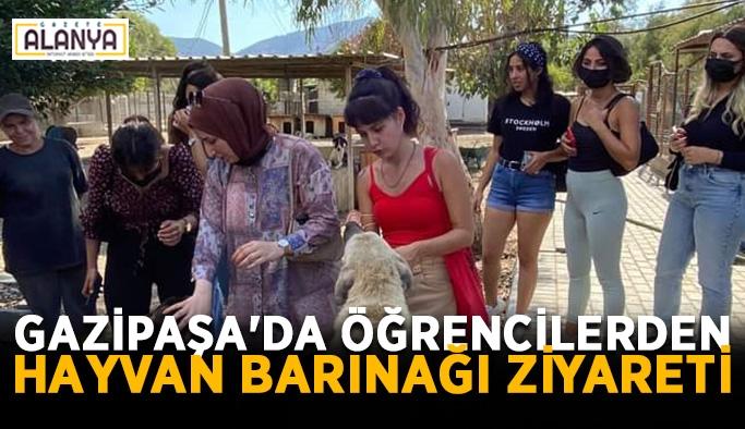 Gazipaşa'da öğrencilerden hayvan barınağı ziyareti