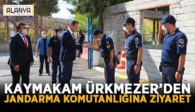 Kaymakam Ürkmezer'den Jandarma komutanlığına ziyaret