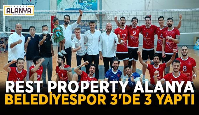 Rest Property Alanya Belediyespor 3'de 3 yaptı