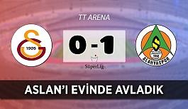 Alanyaspor, deplasmanda Galatasaray'a kök söktürdü