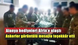 Alanya hediyeleri Afrin'e ulaştı
