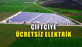 Çiftçiye ücretsiz elektrik