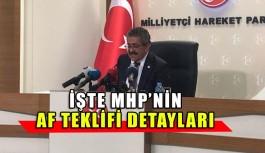 MHP Af teklifi detayları