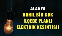 Planlı elektrik kesintisi