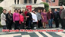 2018 yılında 363 kadın cinayete kurban gitti