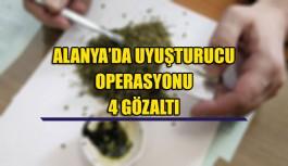Alanya'da uyuşturucu operasyonu 4 gözaltı
