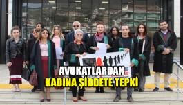 Avukatlardan kadına şiddete tepki