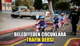 Belediye'den çocuklara trafik dersi