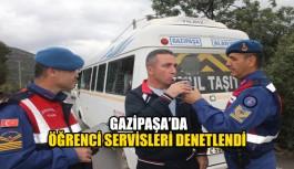 Gazipaşa'da öğrenci servisleri denetlendi