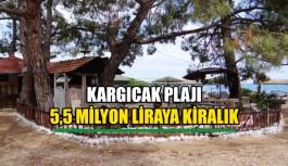 Kargıcak Plajı 5.5 Milyon liraya kiralık