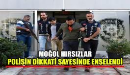 Moğol hırsızlar polisin dikkati sayesinde enselendi