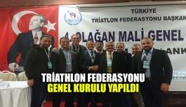 Triatlon federasyonu genel kurulu yapıldı