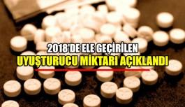 2018'de ele geçirilen uyuşturucu miktarı açıklandı
