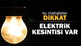 Bugün Alanya'da elektrikler kesintisi